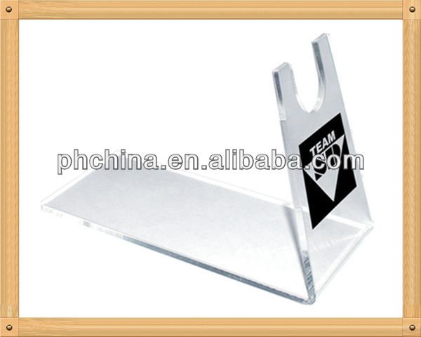 An-b542 modern design factory sell white acrylic gun display stand,acrylic gun display rack,acrylic gun display
