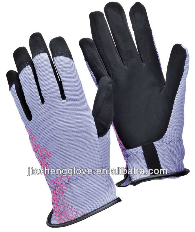 JCG414P garden glove spandex, cotton spandex gloves