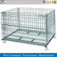 Galvanized steel wire mesh foldable storage cage