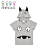100% 170 Gram Cotton Hooded 2-10 Years Old Boy Children Summer T Shirt 2017