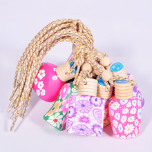 Factory Price Colorful Hanging Car Perfume Polymer Clay Empty Glass Bottles