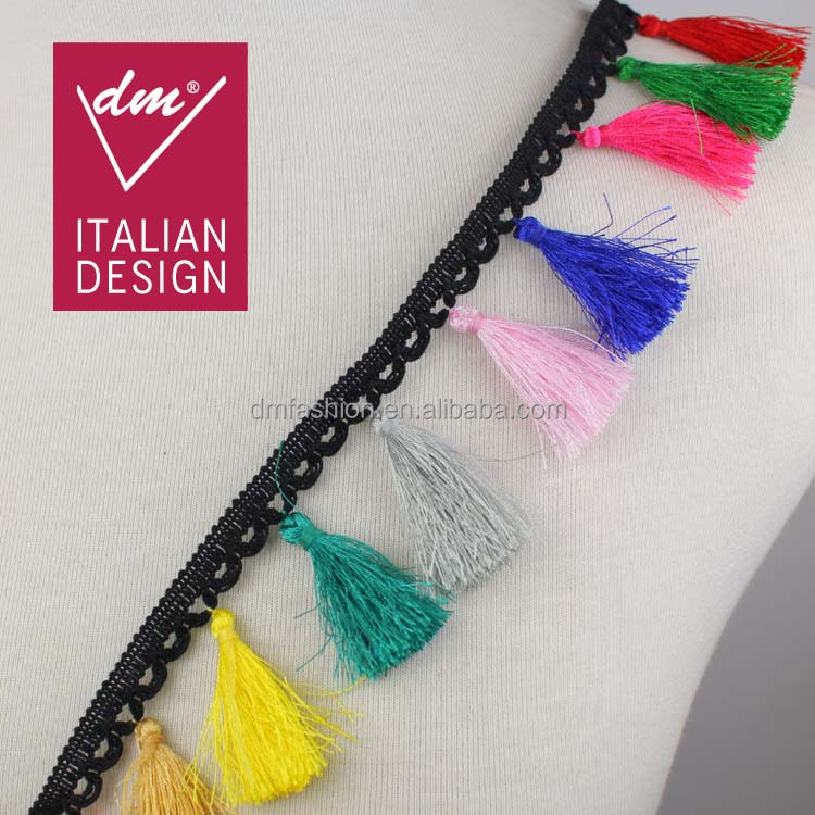 New arrival colorful decorative cord trim,tassel fringe for curtain
