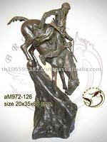 Bronze American Indian Remington Sculpture
