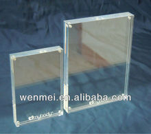 4x6 Clear Acrylic Desk Magnetic picture frames