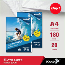 Full color double-sided glossy inkjet photo paper