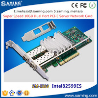 Factory Supply Dual Port PCI-E x8 x16 10GB Optical Ethernet Network Card with Intel 82599ES Chipset Support SFP