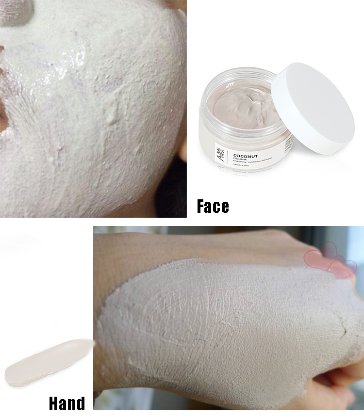 private label oem lightening moisturizer face mask clay skin care facial clay mask wihitening face mask