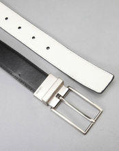 Elegant reversible belt buckle leather belt process manufacturing
