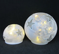 Top sale white color Christmas glass led lighted ball indoor christmas decoration