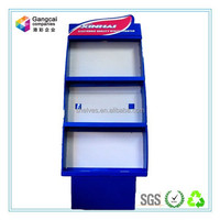 gentle blue cardboard display stand with base for exhibition