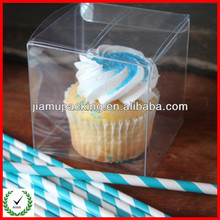 Transparent, souvenir, plastic mini cupcake boxes