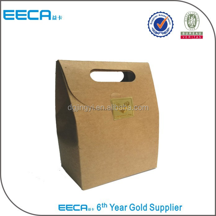 2016 kraft paper bag wholesale, paper bag with logo and paper bags manufacturing process for sale