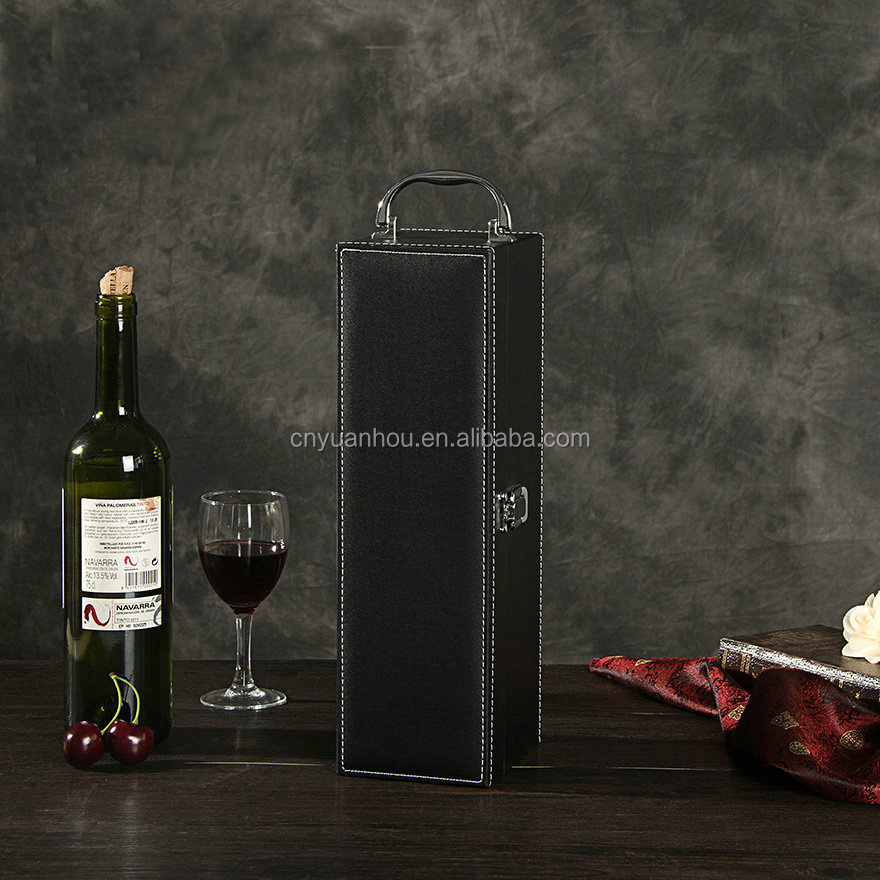 New Stylish Leather Wine Case Carrier, Wine Bottle Case