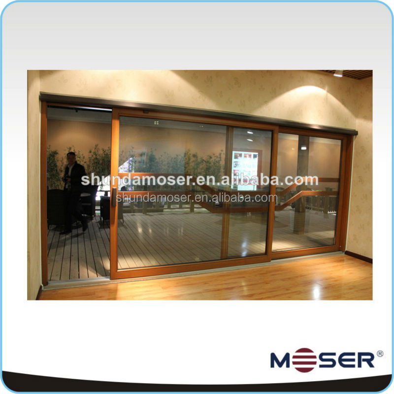 High quality solid wood soundproof lift sliding doors design for decoration / door grill design