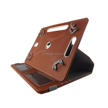Camel Color Universal 360 Rotary PU Leather Folio Stand Shockproof Tablet Case for 10.1 inch