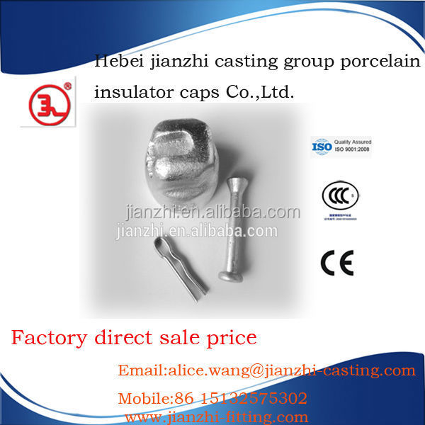 Ball and socket cap ANTI Pollution fog type glass insulators