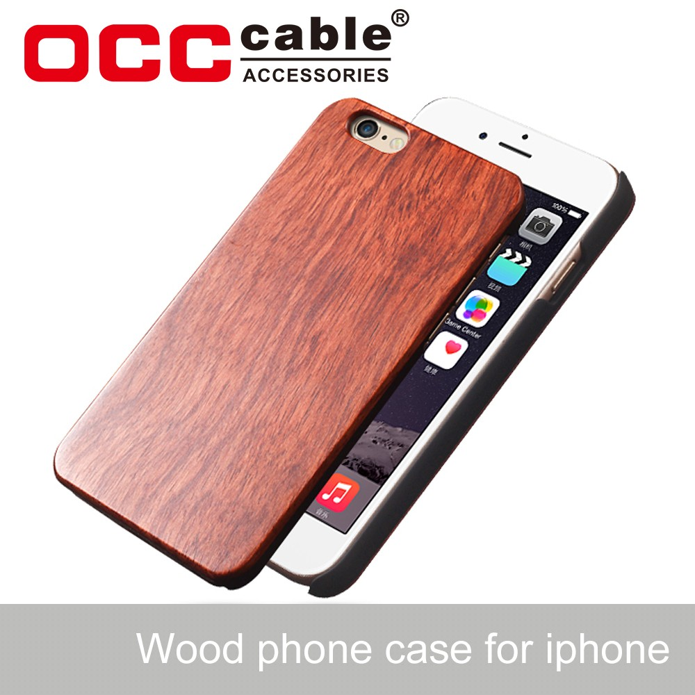 Wholesale bamboo wood custom mobile phone case 5.5 inch for iphone 6plus/7plus