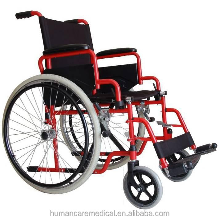 Best selling European style wheelchair with wheelchair foot straps