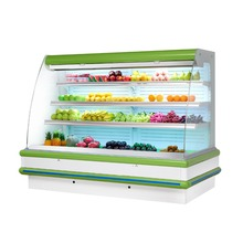 retail fruit open chiller Fruit Showcase Veg Chiller Vegetable cooler