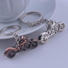 Promotion Gifts Custom 3D Motorcycle Antique Bronze Plated Motorbike Metal Key Chain