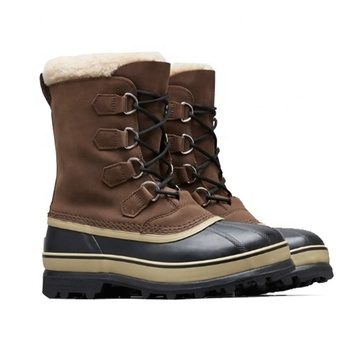 Mens Classic Design Nubuck leather Rubber Outsole Waterproof Warm Snow Boots
