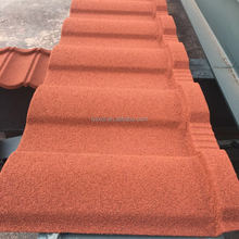 New zealand high quality Colorful stone/chip coated metal roof tile with wholesale price
