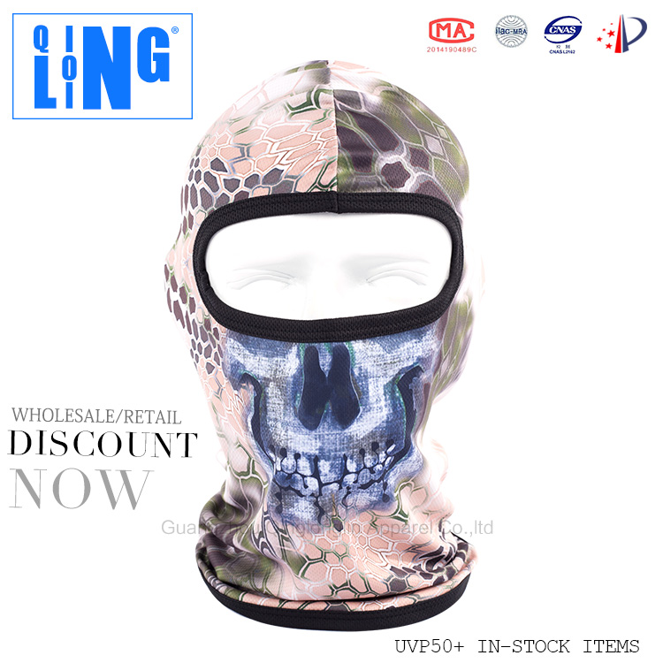 Motorcycle CS Field Seals Tiger Jungle Python Skull Face Mask Ghost Headgear Military Balaclava Quick-drying Full Face Mask