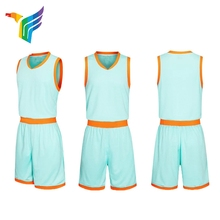best quality simple design anti-bacterial basketball jersey set basketball uniform for men
