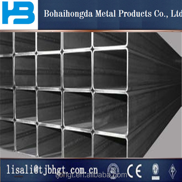rectangular/square hollow section erw galvanized steel pipe/tube from manufacturer of China/ Good quality Ms carbon steel