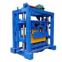 small machines for home business QTJ4-40 concrete fly ash brick block making machine