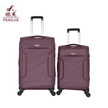 New product wholesale china cheap wheeled fabric luggage travel bag