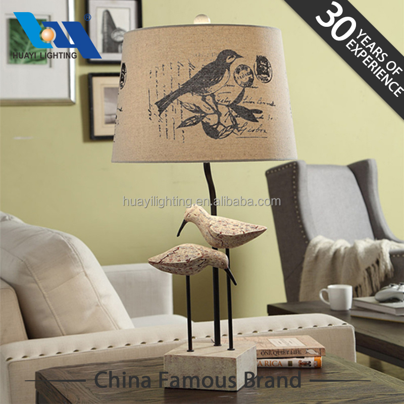 Coffee shop antique style double head bird lamp contemporary decorative home lighting