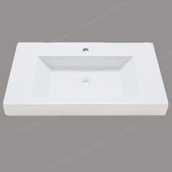 Vanstar Aritificial Stone Solid Surface Vessel Vanity Bathroom Sinks