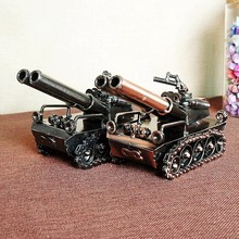 The iron - art dual-gun tank model