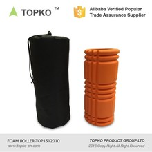TOPKO high density customize mesh bag 33*14cm EVA hollow grid muscle massage foam roller