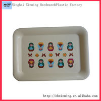 Plastic rectangular serving tray