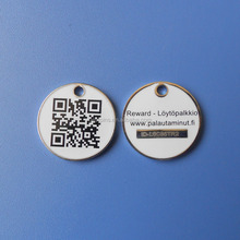 custom design printing QR code metal dog tag pet id tags