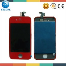 For Iphone 4G Color Transparent Conversion Kit Clear Color ,Front Screen +Home Button+Battery Door