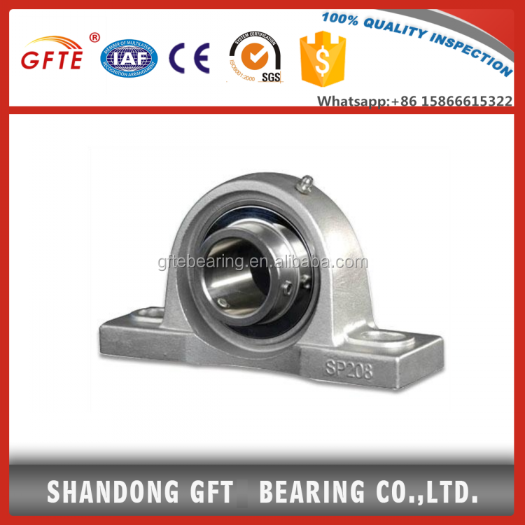 stainless steel pillow block bearing p208 f205 f211 bearings for sale