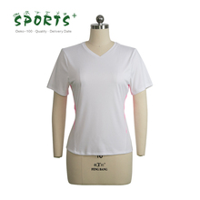 OEM/ODM ladies running clothes women100% polyester drifit running sport t shirts