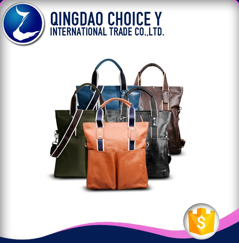Men's Genuine Leather Business Briefcase & Messenger Tote bag