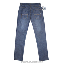 GZY stock lot jeans Fashionable New Design High Quality men long jeans blue 8 different back pockets embroidery