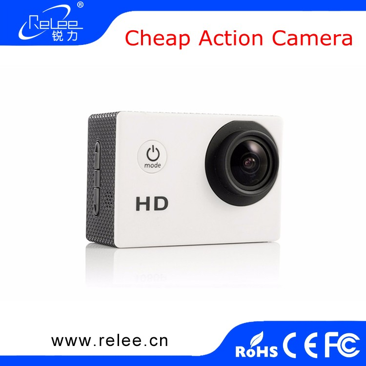Promotion!!! Hot sale 2.0 inch Cheap Waterproof mini Camera 720P Action Camera
