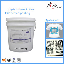 Crack resistance screen printing silicone for textile products