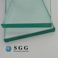 High quality 12mm clear tempered glass used commercial glass doors