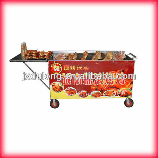 CE approved DL-KGL electric commercial stainless steel barbecue rotating bbq grill