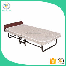Hot Sale Metal Single Bed Trundle Folding Bed with Wooden Slats