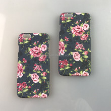 Custom flower Design Water Transfer Printing Hard Pc Waterproof Phone Cases for iphone 6