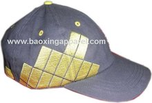 sports cap with link-up embroidery