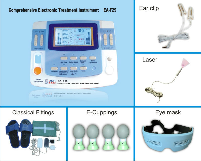 2015 top selling integrated ultrasound tens physical therapy equipment with heating EA-VF29